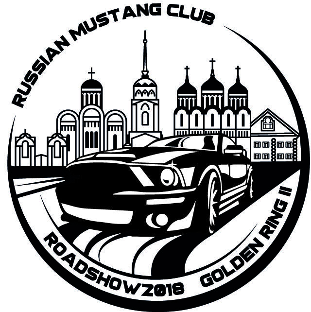 логотип RoadShow II Russian Mustang Club